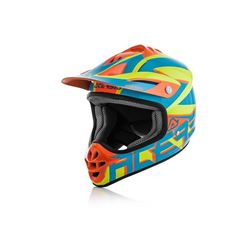 Immagine di CASCO CROSS Acerbis Impact Junior 3.0 2018 Blu Arancio Fluo